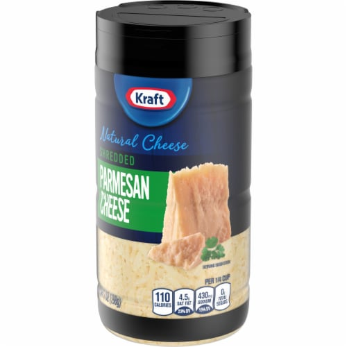 Kraft Shredded Parmesan Cheese Perspective: right
