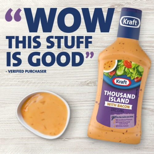 Kraft Thousand Island with Bacon Dressing Perspective: right