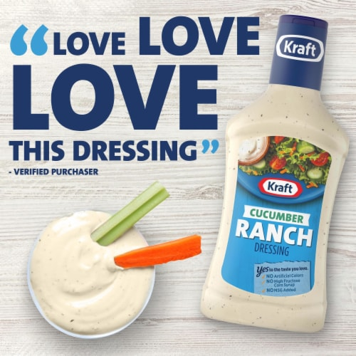 Kraft Cucumber Ranch Dressing Perspective: right