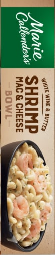 Marie Callender's White Wine and Butter Shrimp Mac & Cheese Bowl Frozen Meal Perspective: right