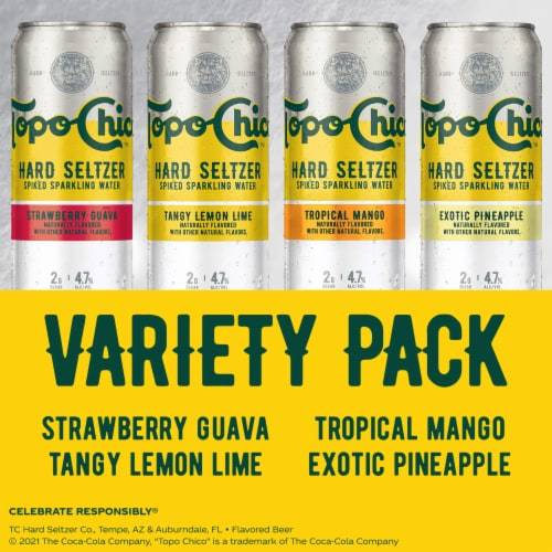 Topo Chico Hard Seltzer Spiked Sparkling Water Variety Pack Perspective: right
