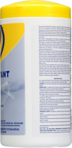 Zep® Clean'ems Spirit II Disinfectant Towelettes Perspective: right
