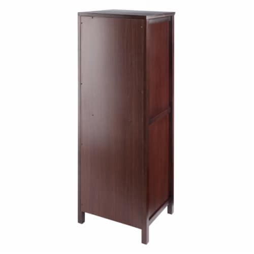 Winsome Brooke 2 Section Wooden Jelly Cupboard Cabinet in Walnut Perspective: right