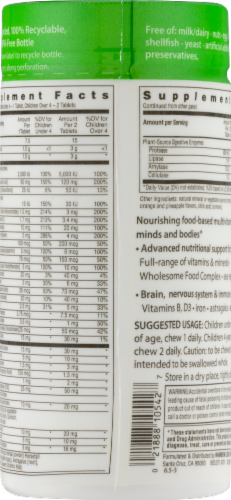 Rainbow Light Nutri-Stars Multivitamin Chewable Tablets Perspective: right