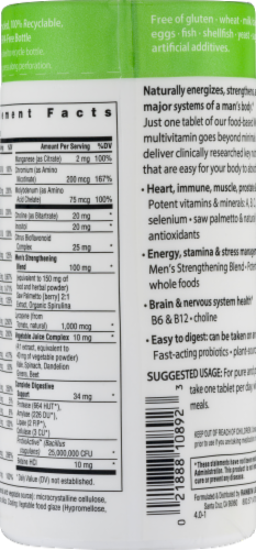 Rainbow Light Men's One Food-Based Multivitamin Tablets Perspective: right