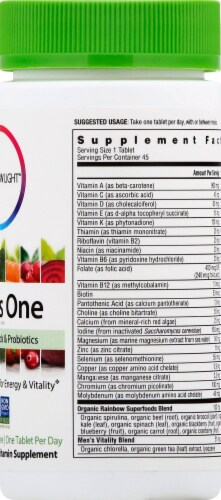 Rainbow Light Men's One Multivitamin Tablets Perspective: right