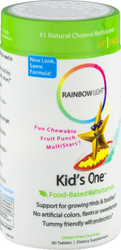 Rainbow Light Kids' One Multivitamin Gluten Free Tablets Perspective: right
