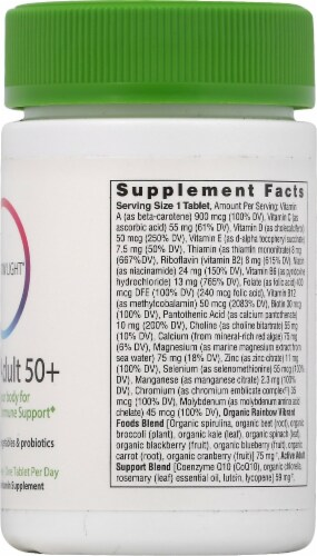 Rainbow Light Active Adult 50+ Multivitamin Tablets 30 Count Perspective: right
