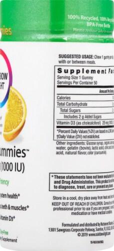 Rainbow Light Vitamin D3 Lemon Flavor Sunny Gummies 1000IU Perspective: right