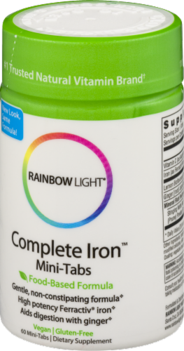 Rainbow Light Complete Iron Mini Tablets Perspective: right