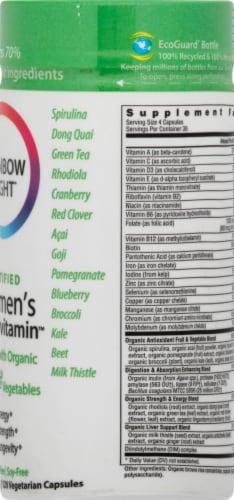 Rainbow Light Organic Women's Multivitamin Vegetarian Capsules Perspective: right