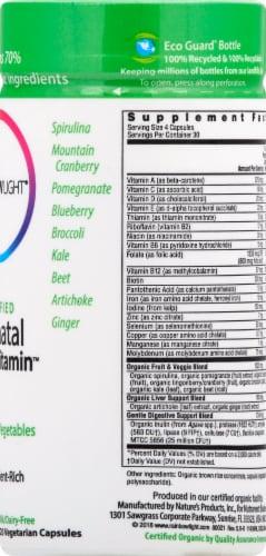 Rainbow Light Organic Prenatal Multivitamin Vegetarian Capsules Perspective: right