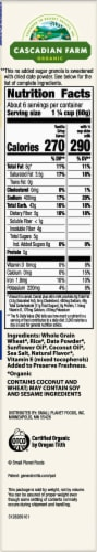 Cascadian Farm Organic No Added Sugar Vanilla Crisp Cereal Perspective: right