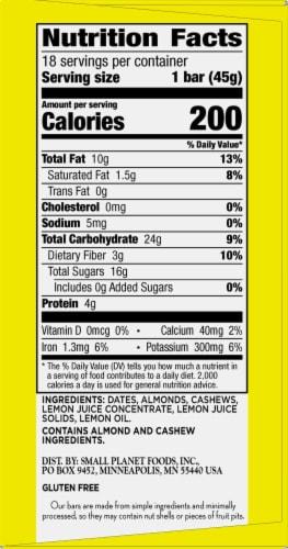 Larabar Lemon Fruit & Nut Bars Perspective: right