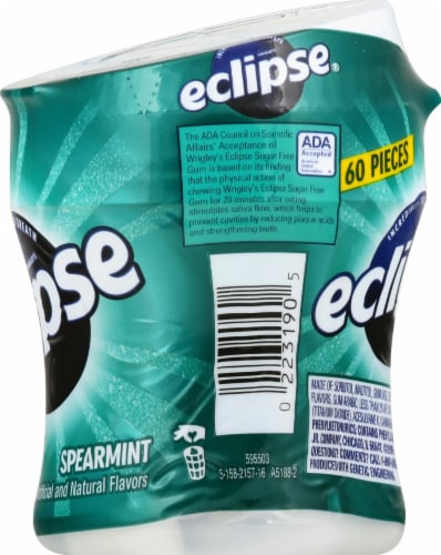 ECLIPSE Spearmint Sugar Free Chewing Gum 60 Count Perspective: right