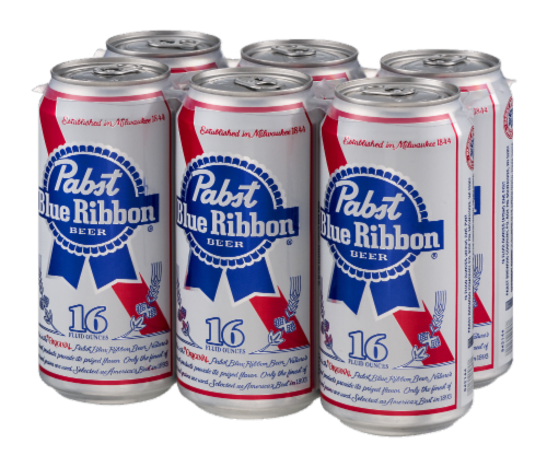 Pabst Blue Ribbon Perspective: right