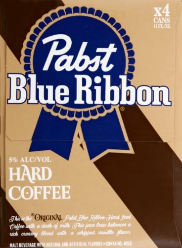 Pabst Blue Ribbon Hard Coffee Perspective: right
