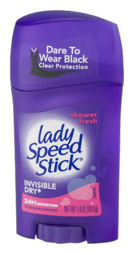Lady Speed Stick Shower Fresh Invisible Dry Antiperspirant Deodorant Perspective: right