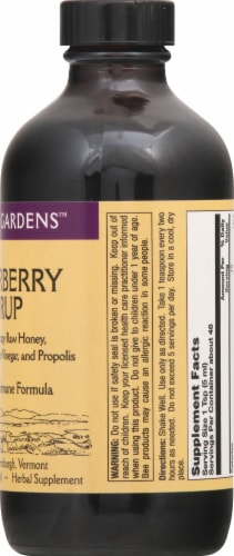 Honey Gardens Traditional Immune Formula Elderberry Syrup Perspective: right