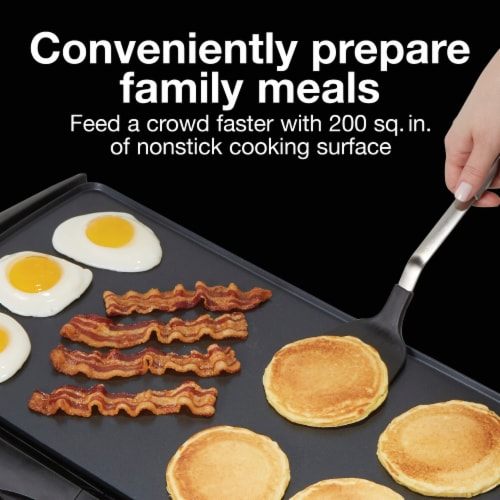 Proctor Silex® Nonstick Electric Griddle - Black Perspective: right
