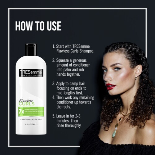 TRESemmé® Flawless Curls Hydrating Conditioner for Curly Hair Perspective: right
