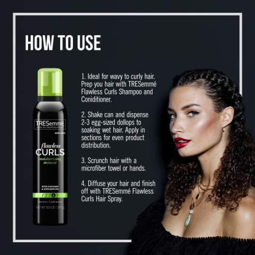 TRESemmé® Flawless Curls Extra Hold Moisturizing & Styling Mousse Perspective: right