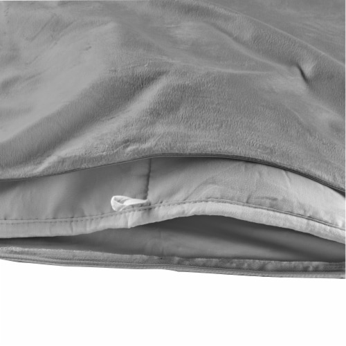 Tranquility Adult Weighted Blanket - Gray Perspective: right
