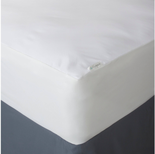 AllerEase Ultimate Protection and Comfort Zippered Mattress Protector - White Perspective: right