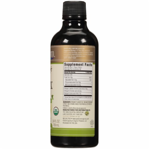 Spectrum Essentials Organic Omega 3 Flax Oil Perspective: right