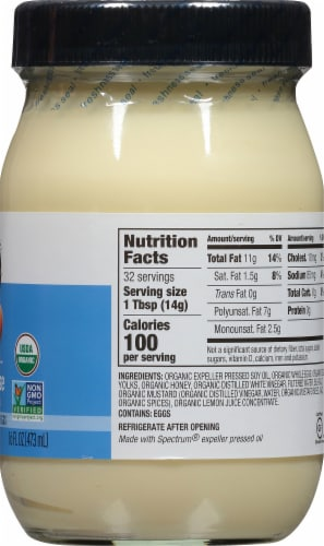 Spectrum Organic Mayonnaise Perspective: right
