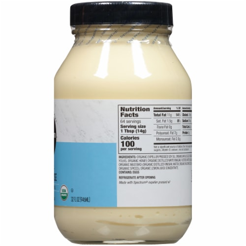 Spectrum Naturals Organic Mayonnaise Perspective: right