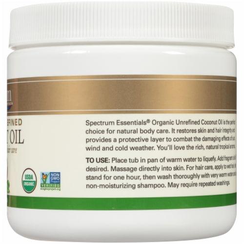 Spectrum Essentials Organic Unrefined Coconut Oil Perspective: right