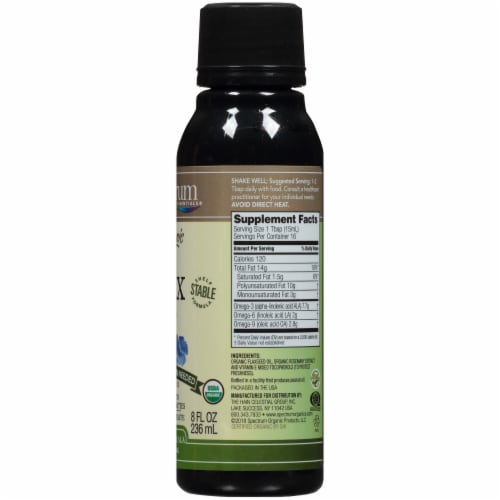 Spectrum Essentials Organic Flax Oil Perspective: right