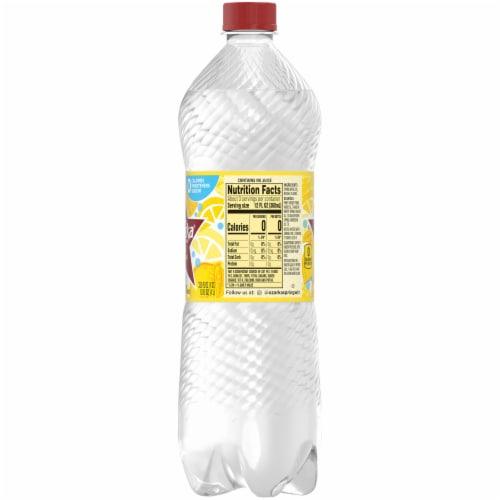 Ozarka Lemon Natural Sparkling Water Perspective: right