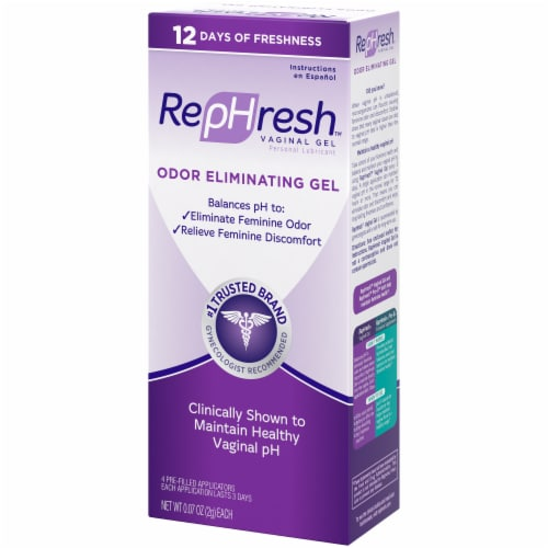 RepHresh Odor Eliminating Vaginal Gel 4 Count Perspective: right