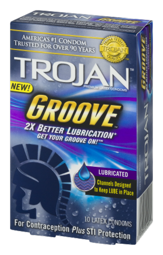 Trojan Groove Lubricated Condoms Perspective: right