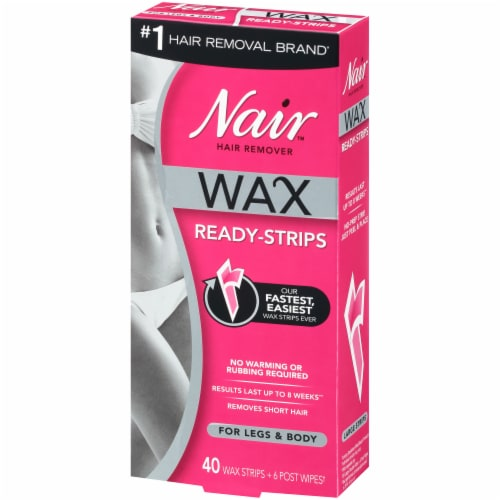 Nair Wax Ready Strips for Legs & Body Perspective: right