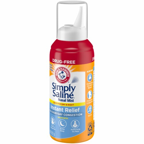 Arm & Hammer Simply Saline Instant Relief Nasal Mist Perspective: right