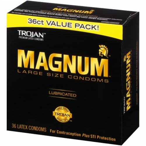 Trojan Magnum Lubricated Large Size Condoms Value Pack Perspective: right