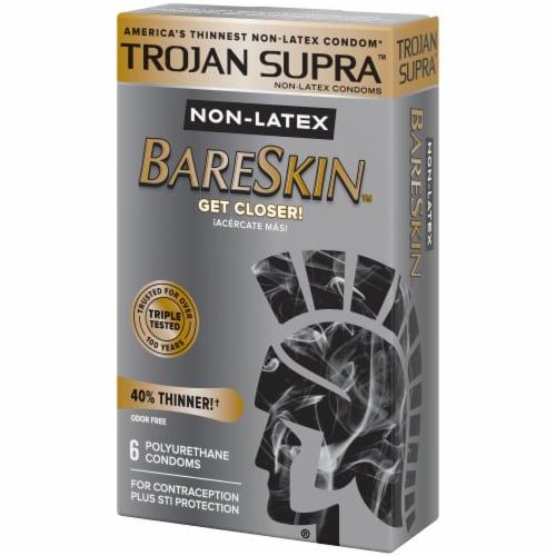 Trojan Supra BareSkin Non-Latex Polyurethane Lubricated Condoms Perspective: right