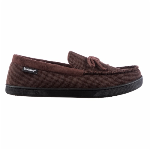 Isotoner® Mini Box Cord Luke Moccasin with Lacing - Brown Perspective: right