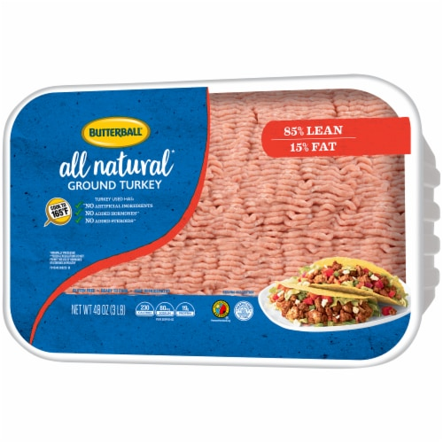 Butterball All Natural 85% Lean Ground Turkey Perspective: right