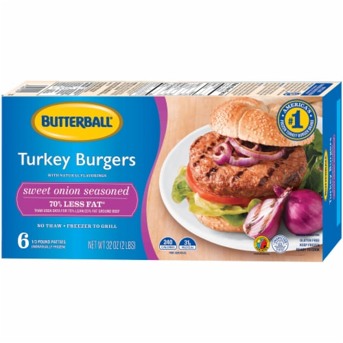 Butterball Sweet Onion Turkey Burgers Perspective: right