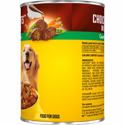 Pedigree Choice Cuts in Gravy Country Stew Wet Dog Food Perspective: right
