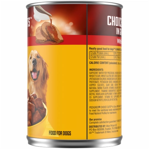 Pedigree Choice Cuts in Gravy with Beef Wet Dog Food Perspective: right