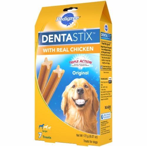Pedigree® DentaStix™ Triple Action Original Chicken Large Breed Dog Treats Perspective: right