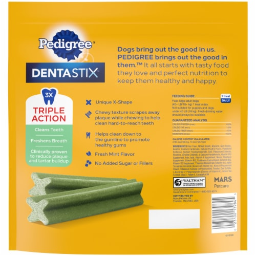 Pedigree Dentastix Triple Action Fresh Large Dog Treats Perspective: right