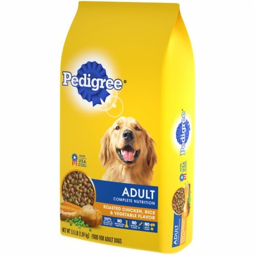 Pedigree Adult Complete Nutrition Roasted Chicken Rice & Vegetable Flavor Dry Dog Food Perspective: right