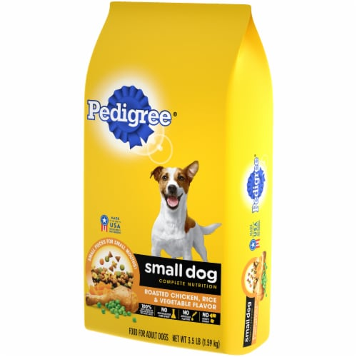 Pedigree Complete Nutrition Roasted Chicken Rice & Vegetable Small Dog Dry Dog Food Perspective: right