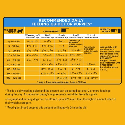 Pedigree Puppy Growth & Protection Chicken & Vegetable Flavor Dry Dog Food Perspective: right